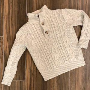 Gap kids sweater with fleece neck. Size S